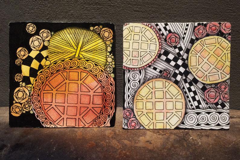 zentangle, zenuari, remix, tangle, ink, man-o-man, hurry, knightsbridge, vitruvius, tipple, snail